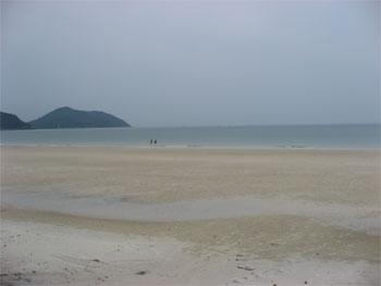 Minh chau beach in Quan Lan island